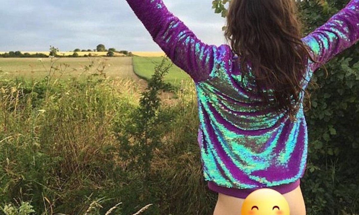 Mostar el trasero al desnudo, la nueva moda de Instagram