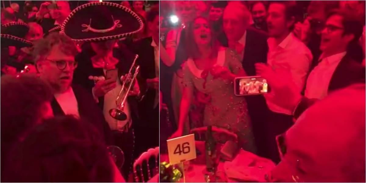 Los mexicanos más aclamados del Festival de Cannes cantaron con mariachis en la fiesta de gala