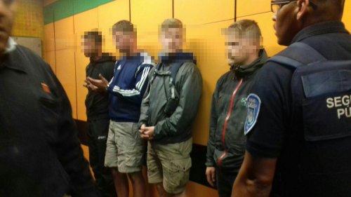 Europeos detenidos por grafitear el Metro de la CDMX