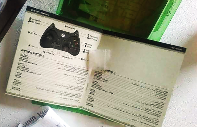 Una bolsita de meth dentro del manual de GTA V