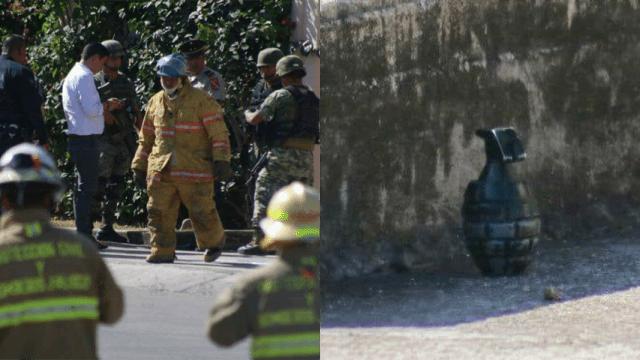 Se encontraron una granada falsa en la calle