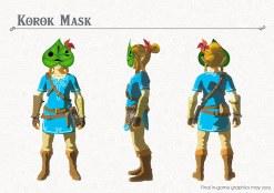 Link usando la máscara de Korok del primer DLC de Breath of the Wild