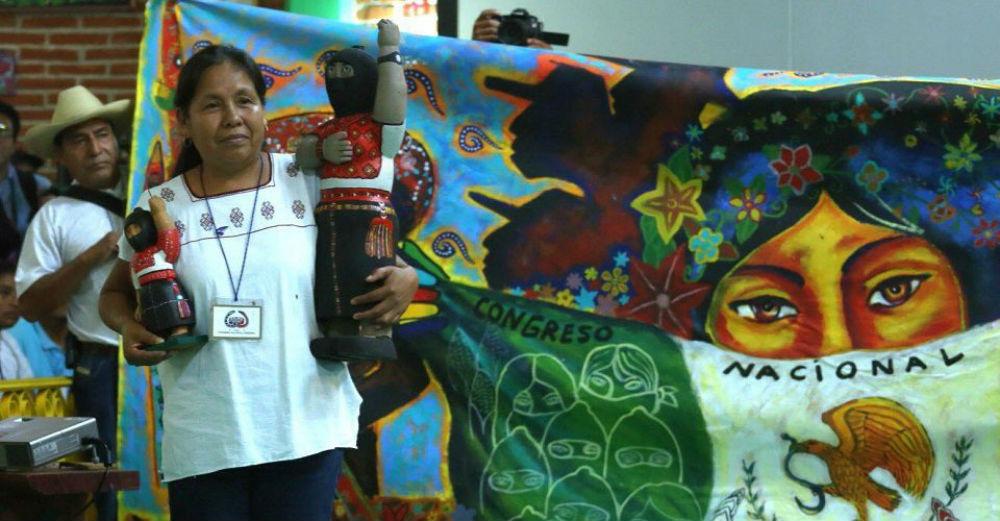 María de Jesús Patricio Martínez, más que candidata independiente a la presidencia 2018 es la vocera del Concejo Indígena de Gobierno