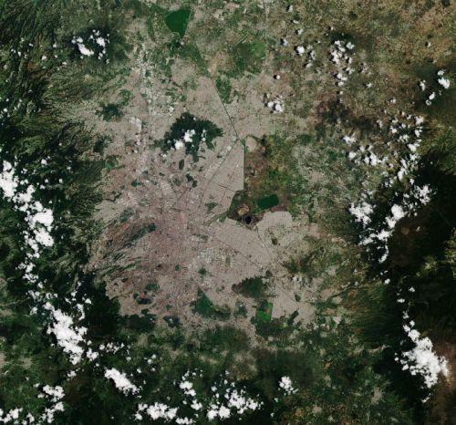 Así se ve la capital desde las alturas