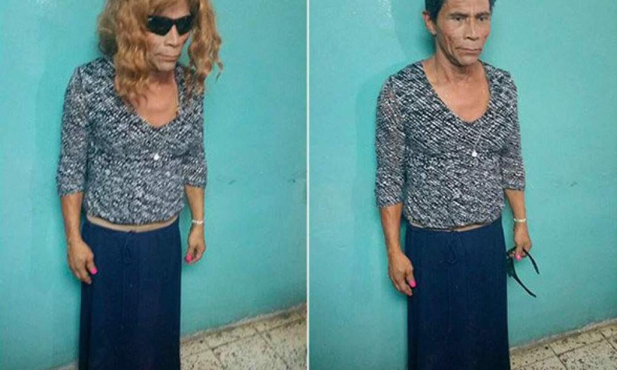 Reo intentó fugarse de la cárcel vestido de mujer