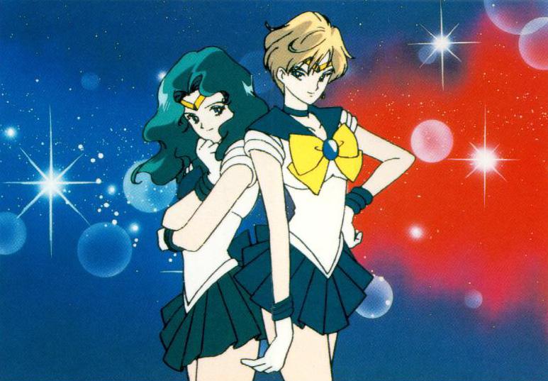 Sailor Neptune y Sailor Uranus están abiertamente en una relación lésbica