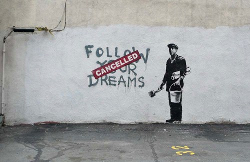 graffitis de Banksy