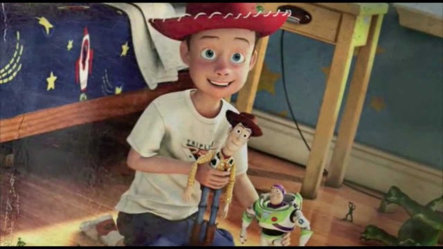 Andy y Woody en Toy Story de Pixar