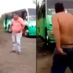 Esta pelea en video de dos choferes de microbús...¡salió mejor que la del Canelo!