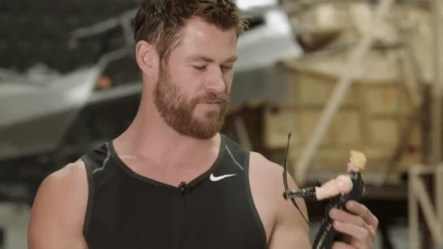 Con un video en Instagram, Chris Hemsworth se mofó de suu ausencia de Capitan America: Civil War