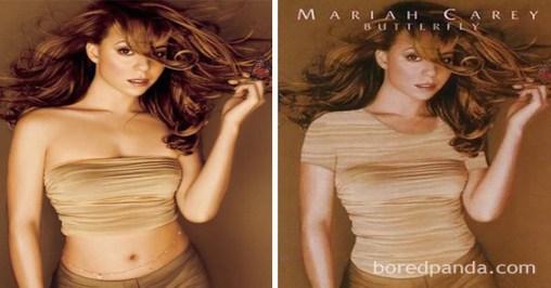 Portada Mariah Carey censurada medio oriente