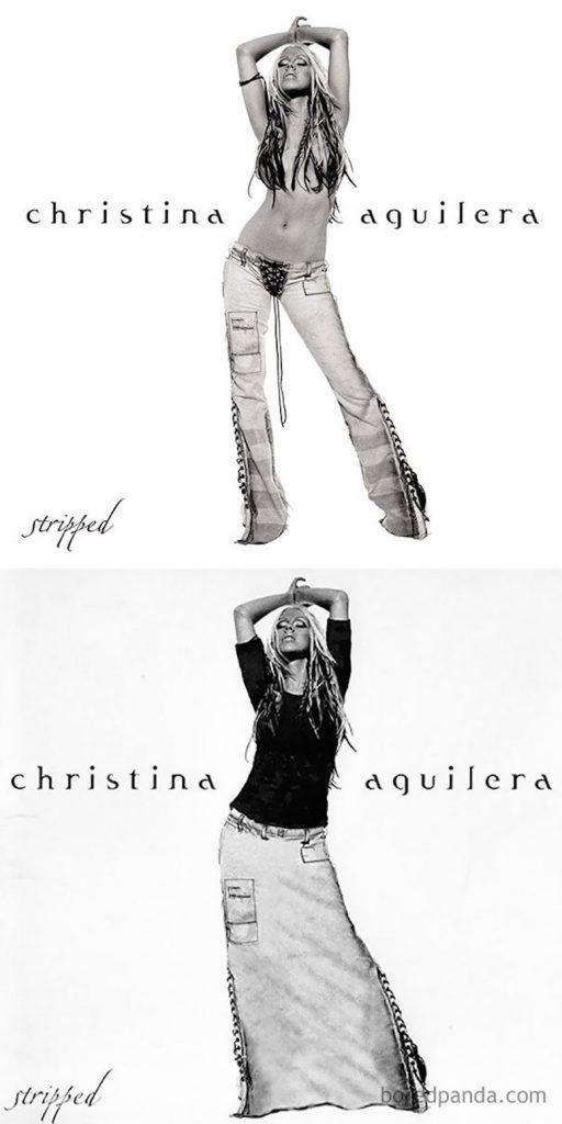 Christina aguilera portada censurada