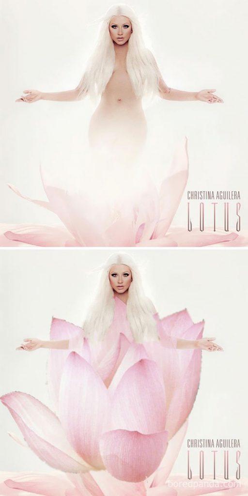 portada censurada lotus cristina aguilera