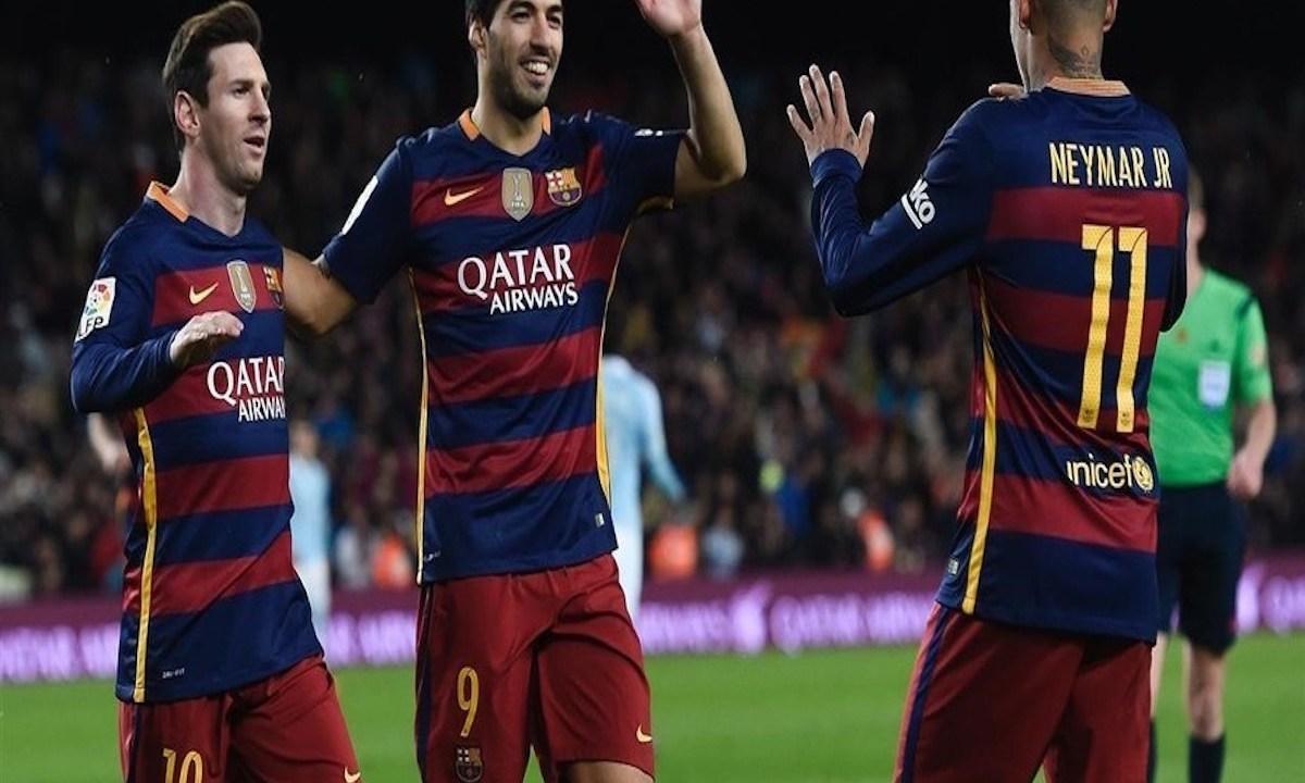 Neymar, Messi y Luis Suárez protagonizan divertida pelea