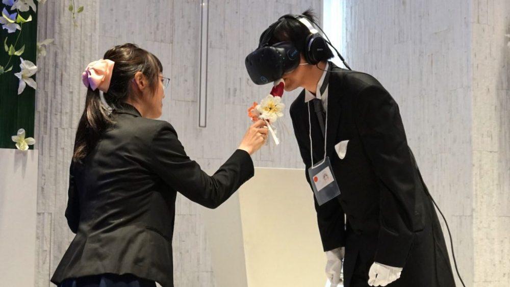 Una boda en VR con una novia de anime