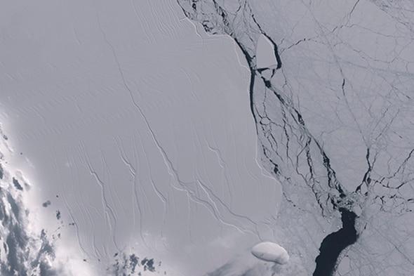 La grieta de Larsen C en la Antártida