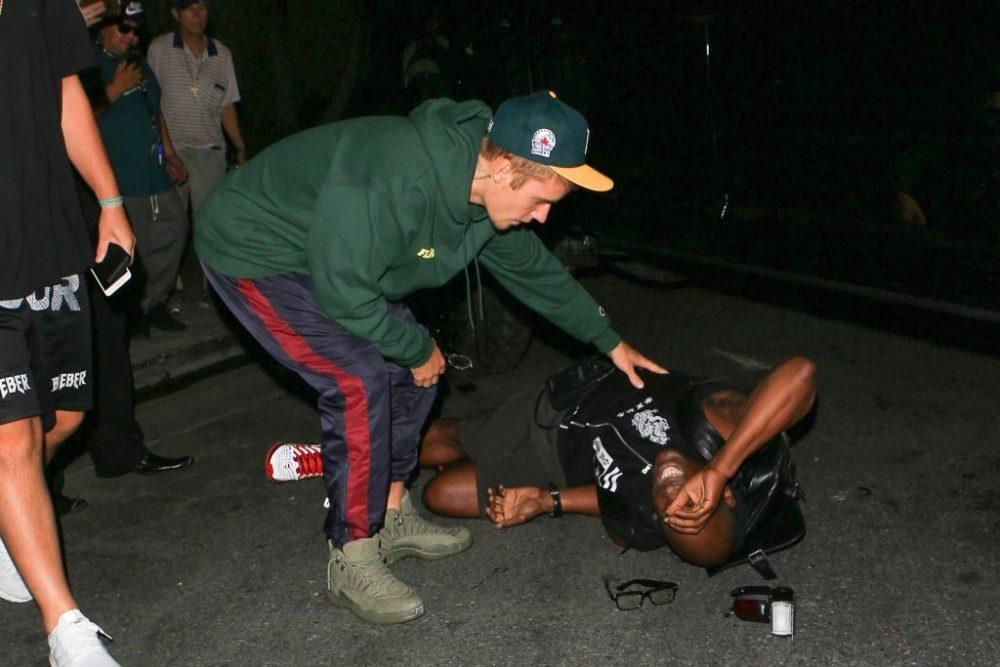 Justin bieber atropella fotografo