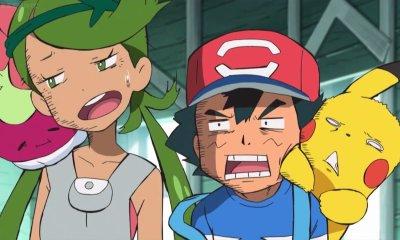 Ash y Mallow en el anime de Pokémon Sol y Luna