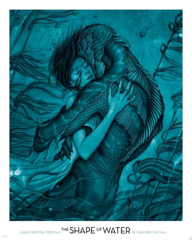 Póster de The Shape of Water de Guillermo del Toro