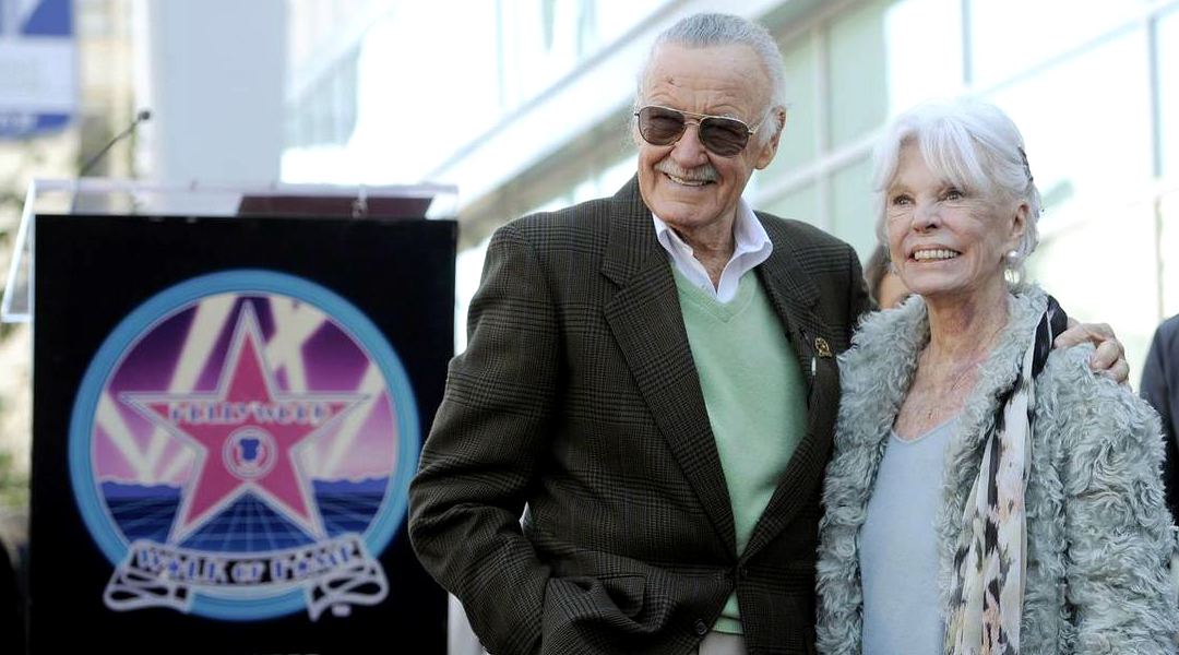 Stan Lee y su esposa, Joan Lee