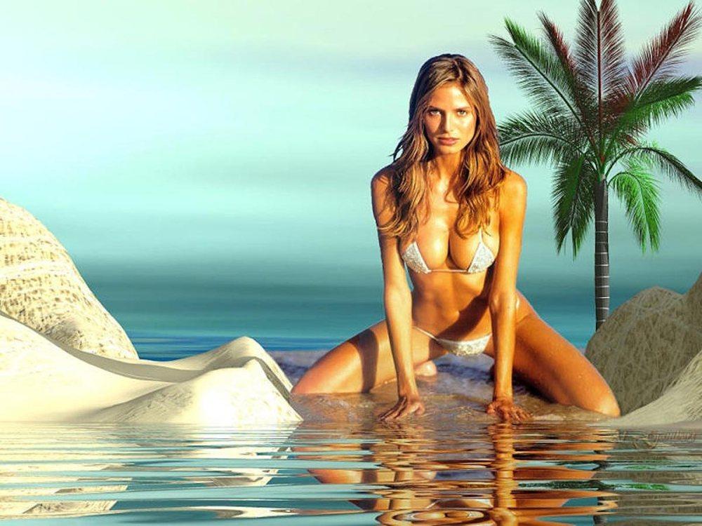 Heidi Klum regala topless a sus seguidores