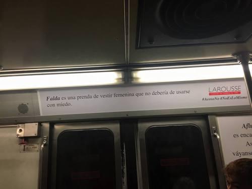 El metro se está llenando de anuncios que explican que #NoEsNo