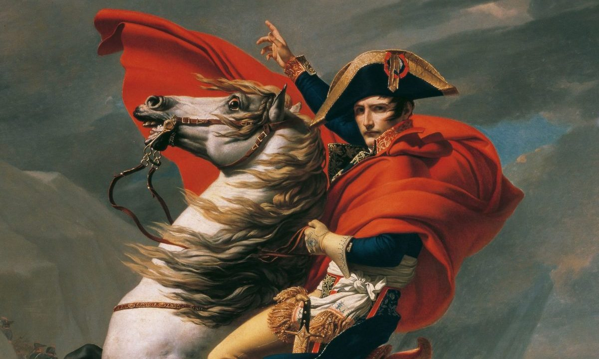 Napoléon cruzando los Alpes, por Jacques-Louis David