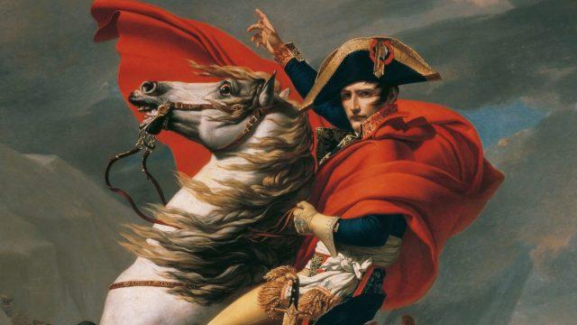 Napoléon cruzando los Alpes, por Jacques-Louis David