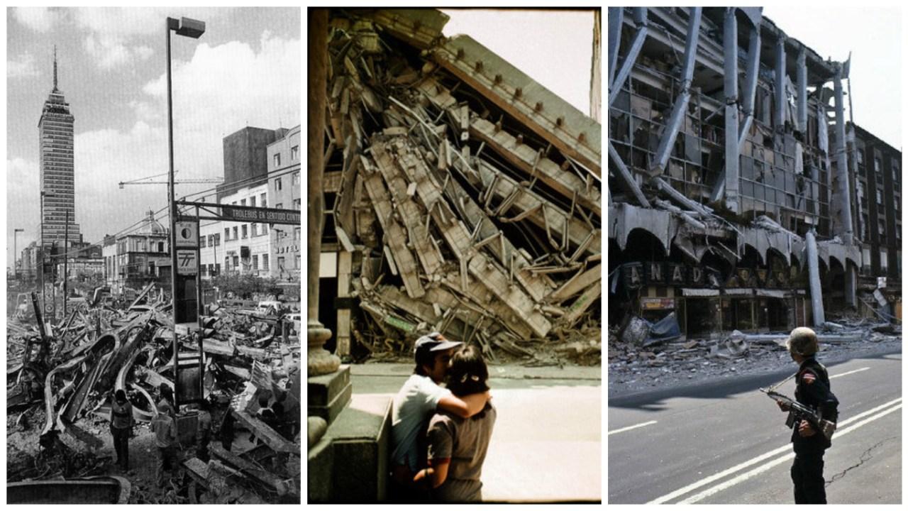 Fotos sismo del 85 en México por pedro meyer