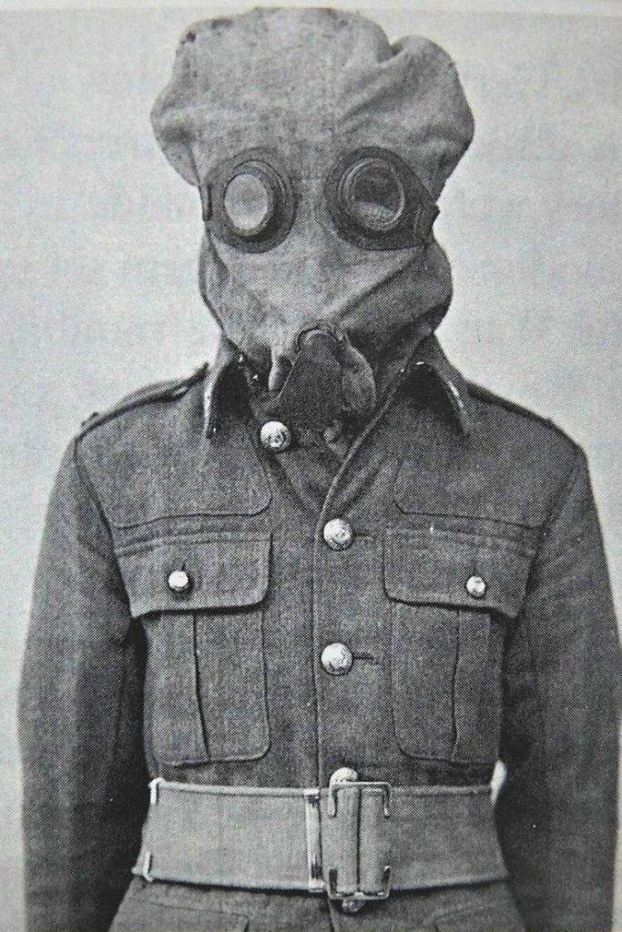 Máscaras antigás en la Segunda Guerra Mundial