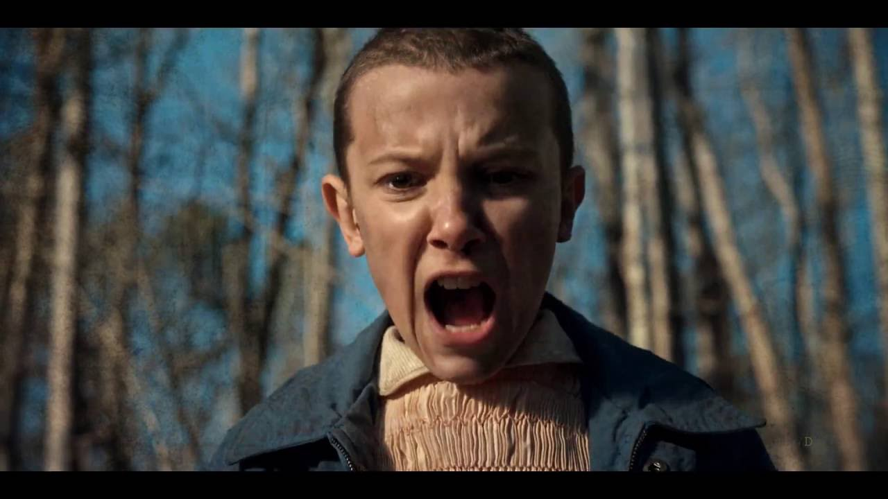 Eleven en Stranger Things, serie de Netflix