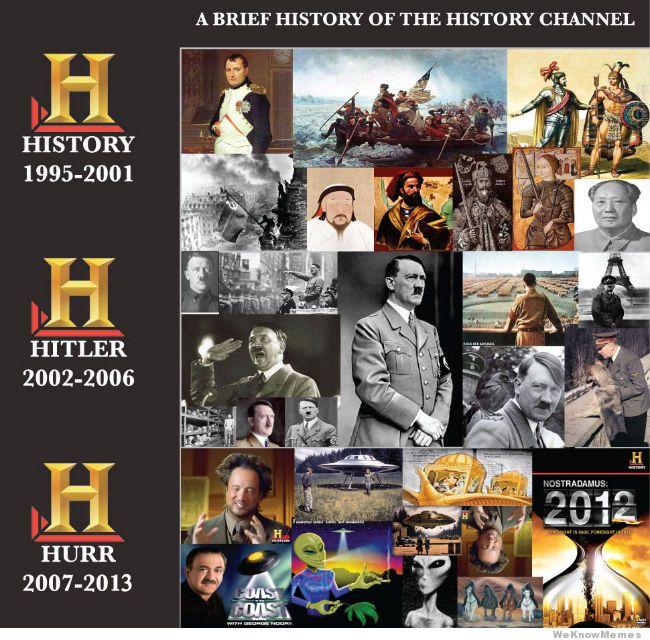 Evolución de The History Channel, meme