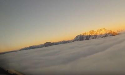 Video del aterrizaje de un avión desde la cabina del piloto