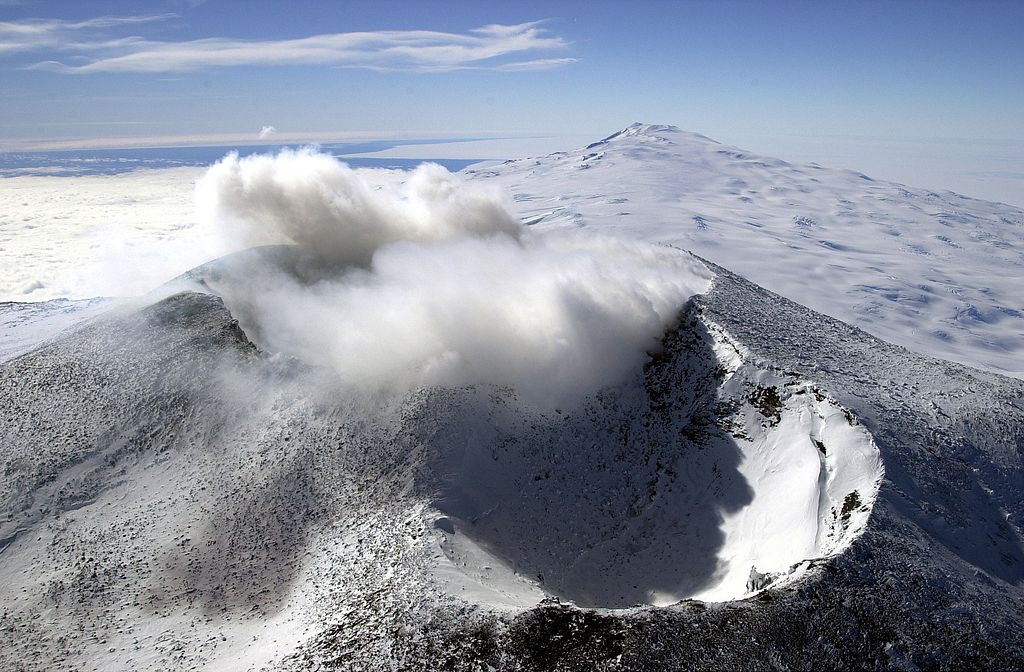 Esto pasaría si los volcanes de la Antártida entraran en erupción