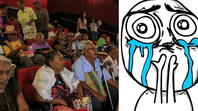 Abuelitos nunca habían ido al cine invitados a ver Coco