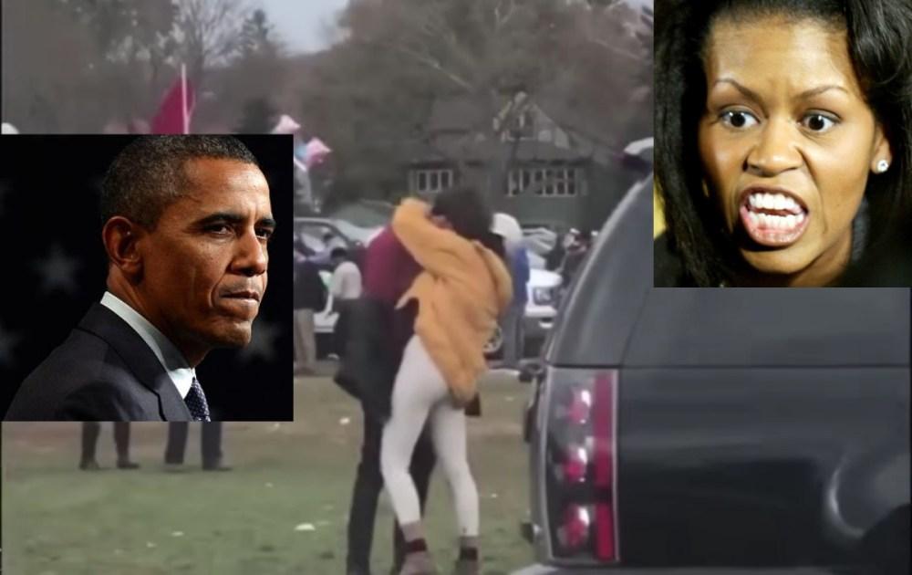 Malia Obama, Video Viral, Barrack Obama, Beso, Paparazzi, Harvard
