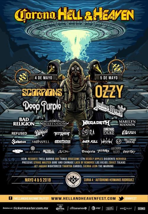 Hell & Heaven, Ozzy Osbourne, Marilyn Manson, Bad Religion, Megadeth