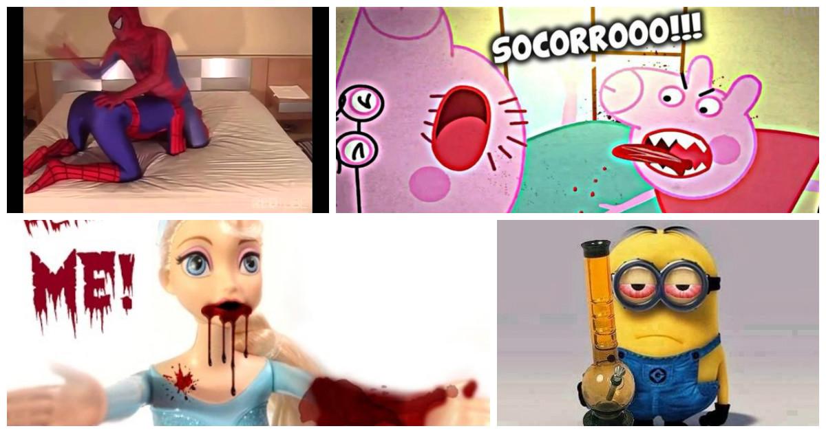 Peppa Pig, Spider-Man, Elsa, Frozen, YouTube, Minions