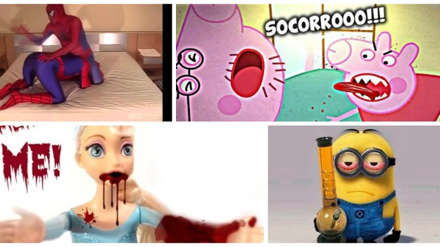 Peppa Pig, Spider-Man, Elsa, Frozen, YouTube, Minions