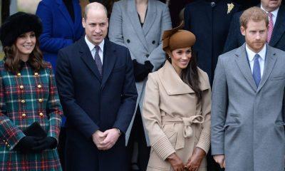 la pareja real en la iglesia de Sandringham