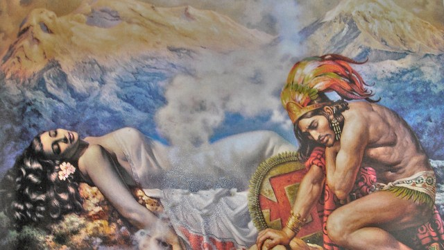 Leyenda-del-Popocatepetl-Iztaccihuatl-amor-aztecas