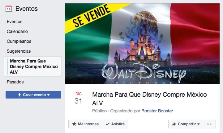 Marcha para que Disney compre México ALV