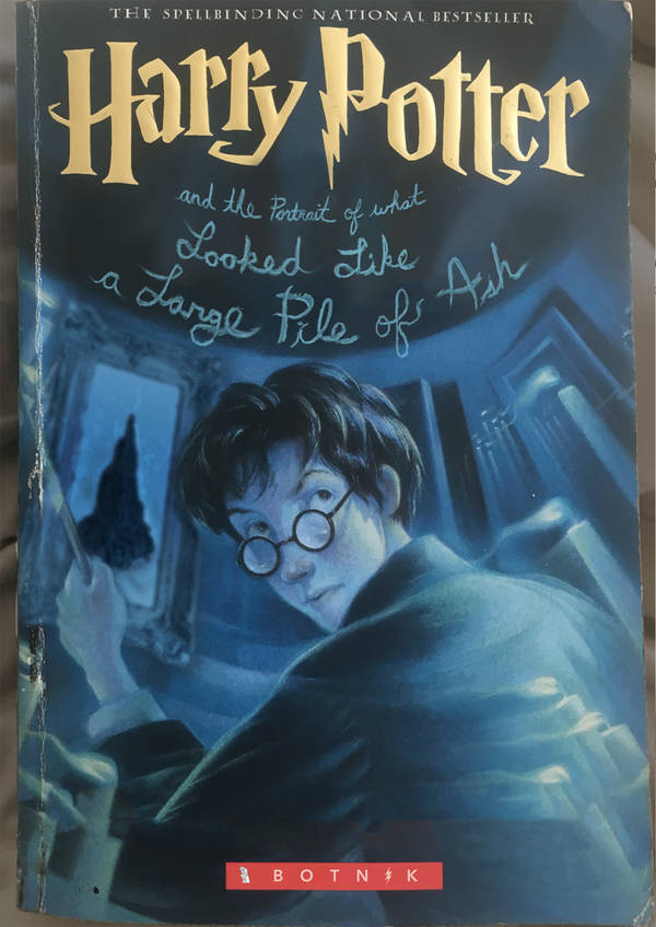 Harry Potter, Portrait of what looked like a large Pile of Ash