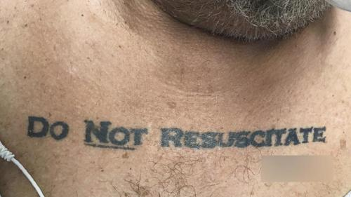 No Resucitar, Muerte, Revivir, Resucitar, Paciente, Tatuaje
