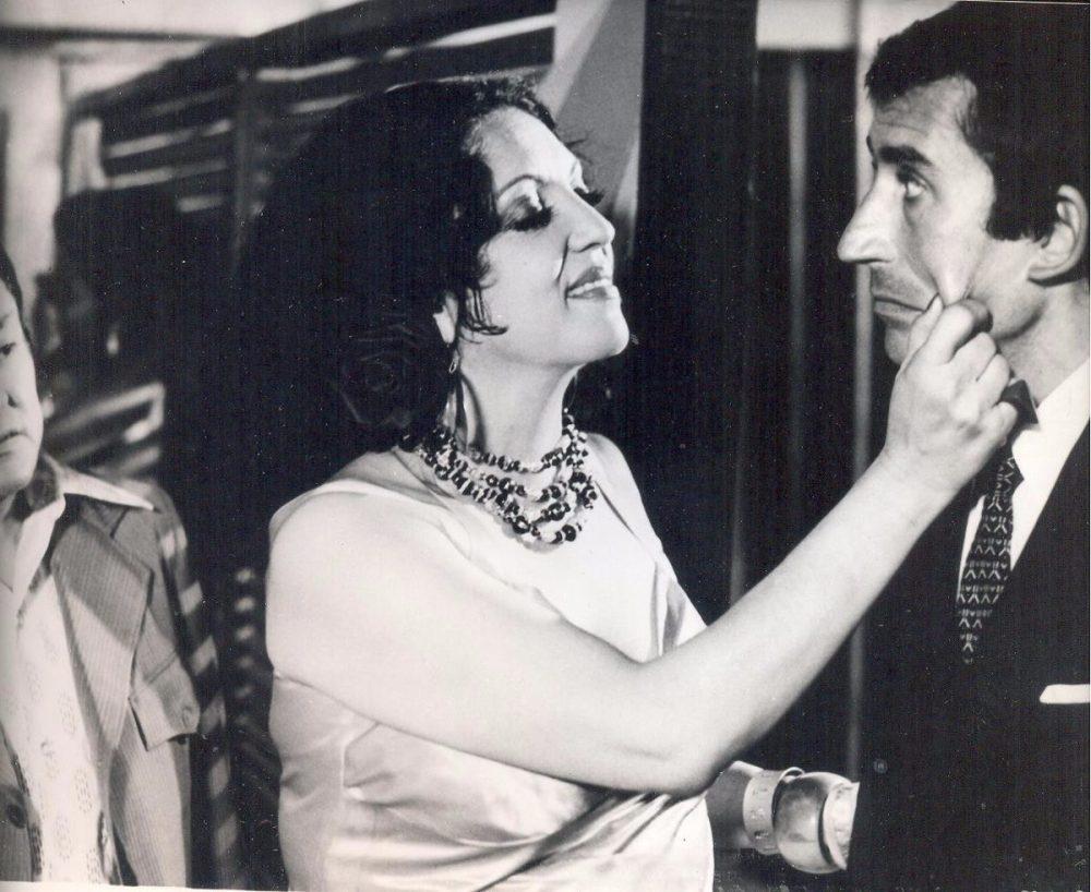 Katy Jurado, Actriz Mexicana, con José Sacristán