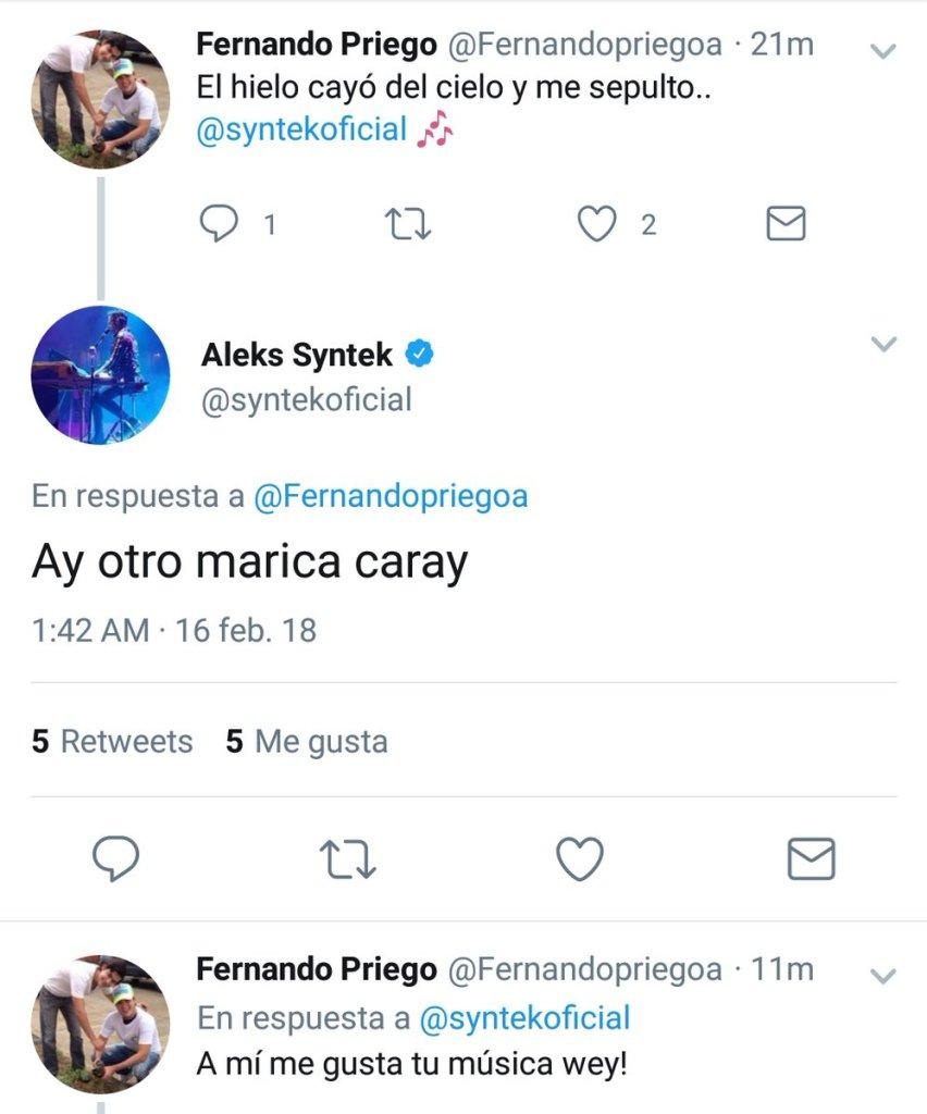 Alex Syntek enloqueció en Twitter y contestó agresivamente