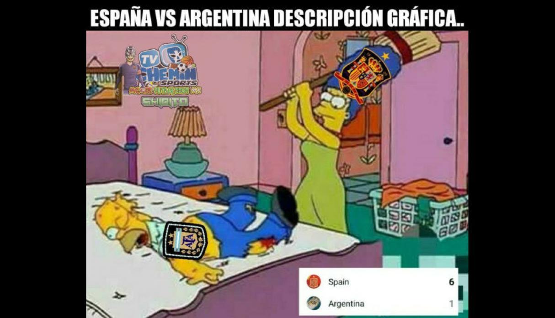 Argentina Espana Memes Goleada Fifa 6 1 Paliza 3