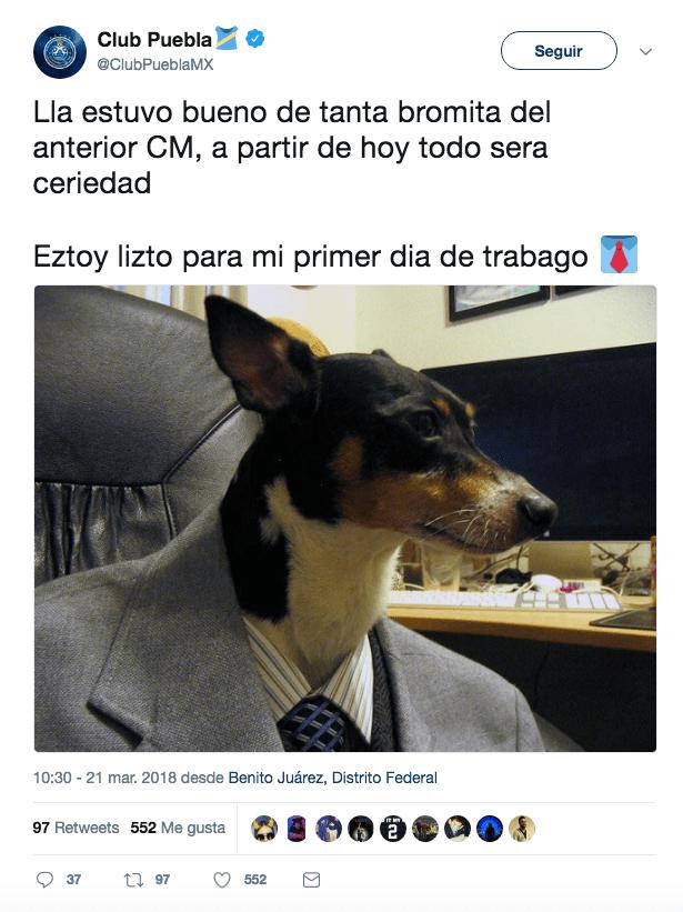 Equipo Perrito Redes Sociales Liga MX Puebla 2