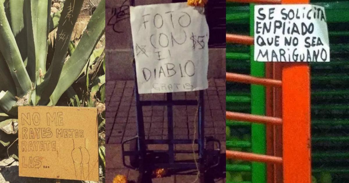 Letreros que sólo entenderá un mexicano