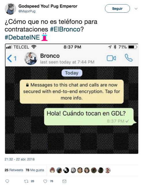 Bronco dejó su número y asi reaccionaron
